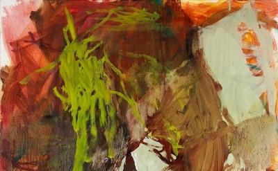 Elizabeth Gilfilen, Sediment, 2013, oil on canvas, 30 x 30 inches (courtesy of t