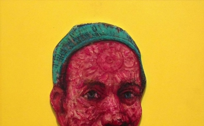 Gregory Gillespie, Self Portrait with Yellow Background, 1998-1999 (Courtesy of