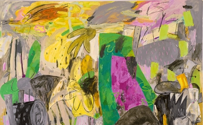 Alfredo Gisholt, Voy a vivir, oil on canvas, 72 x 84 inches, 2013 (courtesy of t