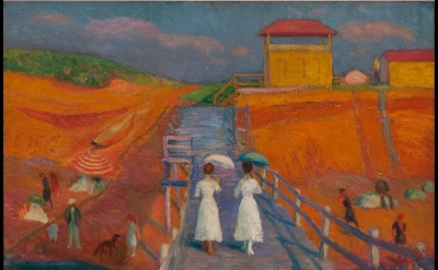 William Glackens, Cape Cod Pier 1908, oil on canvas, 26 x 32 inches (Museum of A