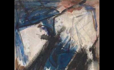 Judith Godwin, Martha Graham-Lamentation, oil on canvas, 60 x 35 3/4 inches, 1956 (courtesy of the artist)