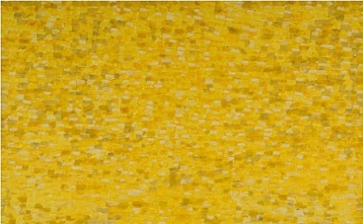 Shirley Goldfarb, Yellow painting #7, 1968, oil on canvas, 77 x77 inches (courte
