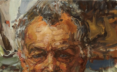Catherine Goodman, Stephen Frears, oil on canvas (courtesy of the artist)
