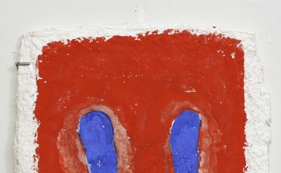 Ron Gorchov, Brother, 2013, watercolor on handmade paper, 14 1/2 × 12 inches (co