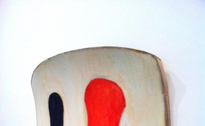 Ron Gorchov, La Piva, 2012, Oil on linen, 35 x 45 x 9 inches (courtesy Cheim & R
