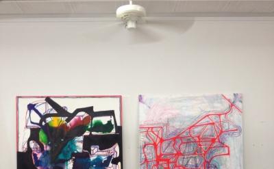 Joanne Greenbaum Studio View, 2012 (courtesy of the artist)