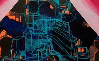 Joanne Greenbaum, Dollar General, 2008, oil and acrylic on canvas, 72 x 72 inche