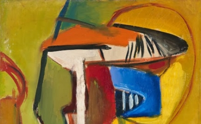 John Grillo, Untitled A, 1946, 19 1/2 x 20 inches, oil on canvas (courtesy of Da