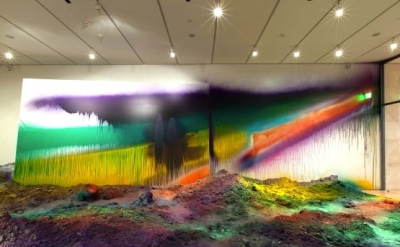 Installation view: Katharina Grosse: Wunderblock at the Nasher Sculpture Center,