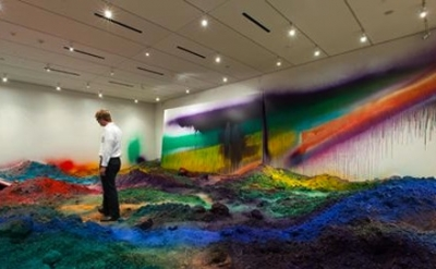 Installation View: Katharina Grosse: Wunderblock at the Nasher Sculpture Center