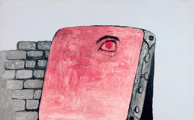 Philip Guston, The Canvas, 1973, oil on canvas 67 x 79 inches (courtesy of McKee
