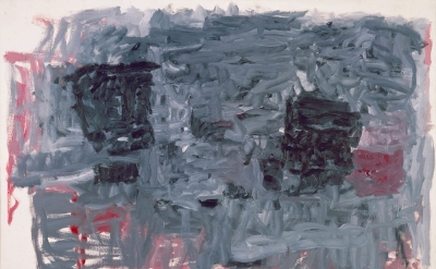 Philip Guston, The Year, 1964, oil on canvas, 78 x 107 1/2 inches (courtesy of M