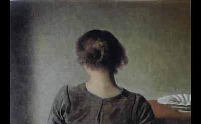 Vilhelm Hammershøi, Resting, 1905, oil on canvas, 19 1/2 x 18 1/4 inches