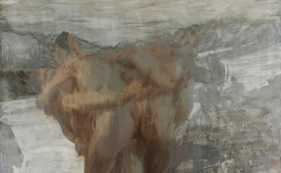 Hanneline Rogeberg , Thaw, 7 x8 feet, oil on canvas, 2008 (source: hannelineroge