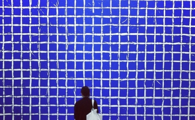 Installation view, Simon Hantaï, Tabula (photo: Same Old Art)