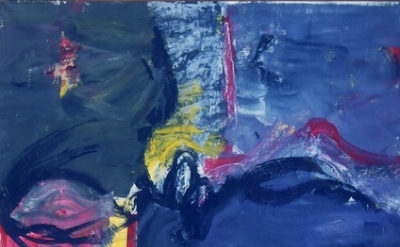 Grace Hartigan, Grey Eyed Athena, 1961, oil on canvas, 64 x 49 inches (Samuel Do