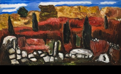 Marsden Hartley, Dogtown, c.1934 (collection of Frederick R. Weisman Art Museum)