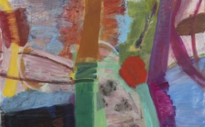 Julian Hatton, Warbler, 2014-15, oil on canvas, 60 x 60 inches (courtesy of Eliz