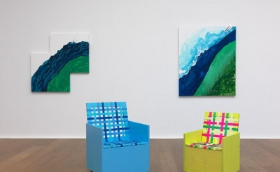Mary Heilmann, Visions, Waves and Roads, 2012, Installation view (courtesy Hause