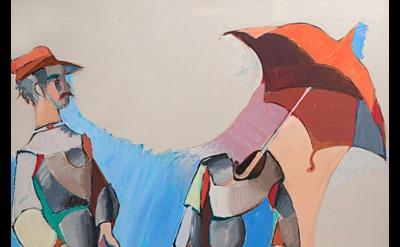 Jean Hélion, Mannequinerie en solde, 1978, acrylic on canvas, 57-1/2 x 45 inches