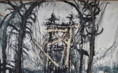 Susanna Heller:, Ominous Footpath, 2011, oil on canvas, 58 x 45 inches (courtesy