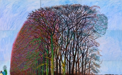 David Hockney, Bigger Trees Nearer Warter, Winter 2008, oil on nine canvases, 36