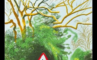 David Hockney, The Arrival of Spring in Woldgate, East Yorkshire in 2011 (twenty