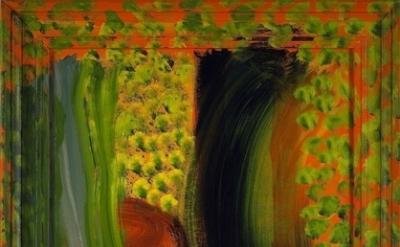 Howard Hodgkin, After Vuillard, 2002, oil on wood, 43 1/2 x 51 inches, 110.5 x 1