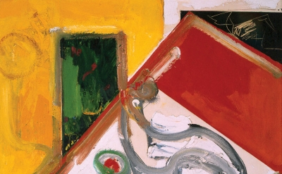 Hans Hofmann, Fruit Bowl Version 6, 1950, oil on canvas, 48 x 36 inches (collect