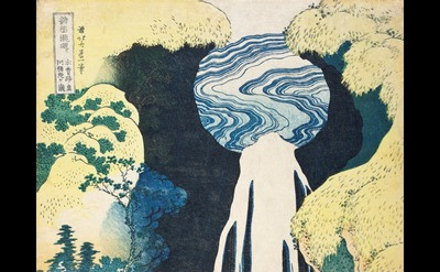 Katsushika Hokusai, Amida Falls on the Kiso Highway, c. 1833, (Los Angeles Count