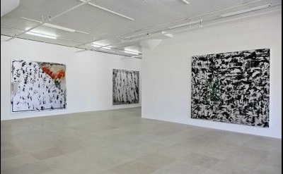 Installation View: paintings by Jacqueline Humphries at Greene Naftali gallery