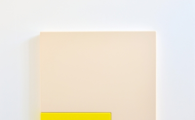 Suzie Idiens, Flesh Yellow, MDF and Polyurethane, 69 x 77 x 7 cm, 2012 (courtesy