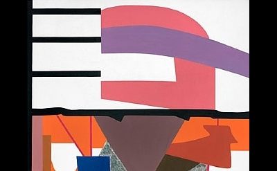 Shirley Jaffe, New York Collage II, 2009, oil on canvas, 57 by 38 inches (courte