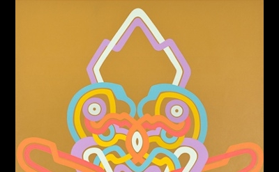 Jay Gaskill, Loglo Blazon, 2011, acrylic on canvas, 108 x 80 inches