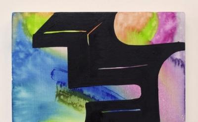 Joanne Greenbaum, Untitled, 2011, oil, acrylic, mixed media on linen, 16 x 12 in