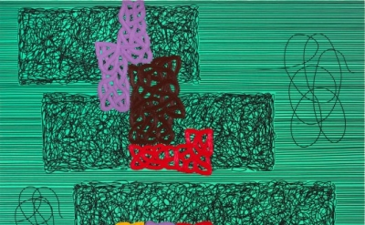 Jonathan Lasker, When Dreams Work, 1992, Oil on canvas, 90 x 120 inches, ©