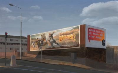 Eithne Jordan, Billboard III, oil on linen, 73 x 100 cm (courtesy of the artist)