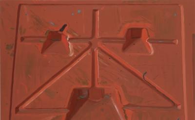 Josephine Halvorson, Barrier, 2011, Oil on linen, 36 x 42 inches (courtesy Sikke