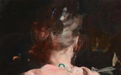 Alex Kanevsky, Hollis, 2015, oil on panel, 20 x 20 inches (courtesy of the artis