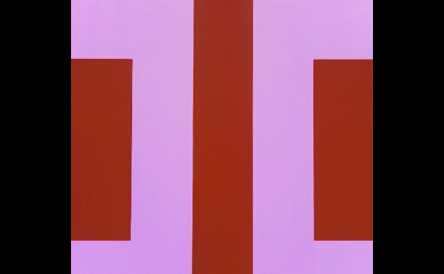 Karl Benjamin, #34, 1964, oil on canvas, 107 x 107 cm (source: geoform.net)