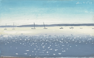 Alex Katz, Penobscot, 1999, Oil on board, 23 x 30.5 cm, Acquired jointly with th