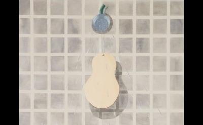 Allison Katz, Shower's Head, Frontal, 2013, acrylic on canvas (courtesy of the a