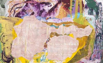 Zachary Keeting, December (5), 2014, acrylic on canvas, 54 x 62 inches (© Zachar