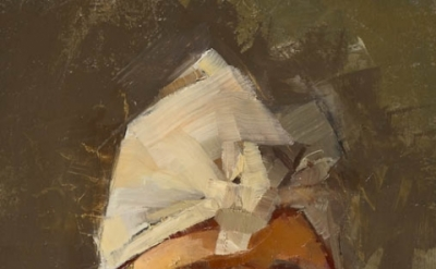 Catherine Kehoe, Schmata head, 2009, oil on paper, 7 x5 inches (courtesy of the