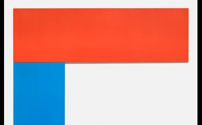 Ellsworth Kelly, Chatham VI: Red Blue, 1971, oil on canvas, two joined panels, 1