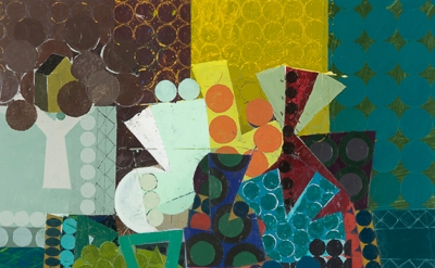 Ken Kewley, Large Still Life I, acrylic on board, 24 x 24 inches (courtesy of Gr