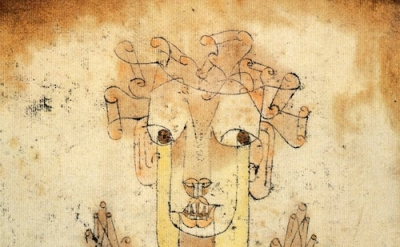 Paul Klee, Angelus Novus, 1920, oil transfer and watercolor on paper, 12.5 × 9.5