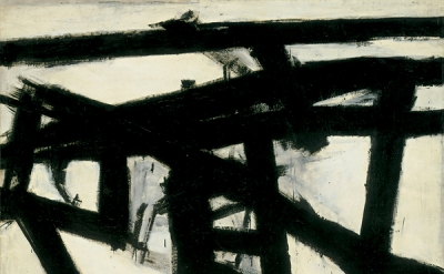 Franz Kline, Mahoning, 1956, oil and paper collage on canvas, 80 × 100 inches (W