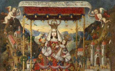 Our Lady of Cocharcas Under the Baldachin, Peru, 18th century, oil on canvas (co