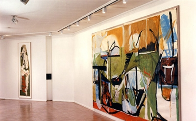 Installation View, Peter Lanyon: The Mural Studies at Gimpel Fils, London